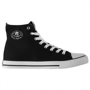 Dunlop Mens Canvas High Top Trainers - Black/White.