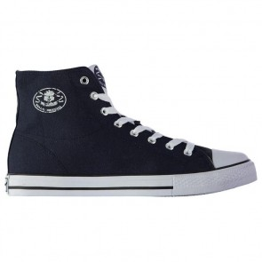 Dunlop Mens Canvas High Top Trainers - Navy.