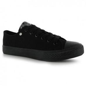Dunlop Mens Canvas Low Top Trainers - Black.