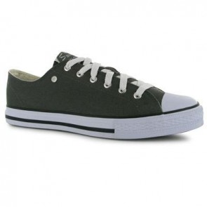 Dunlop Mens Canvas Low Top Trainers - Grey.