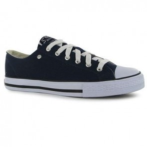 Dunlop Mens Canvas Low Top Trainers - Navy.