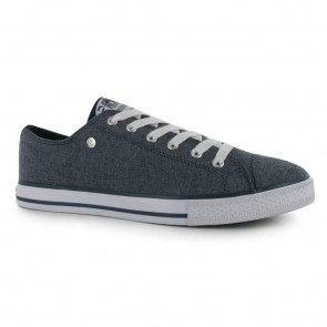 Dunlop Mens Canvas Low Top Trainers - Navy Chambray.