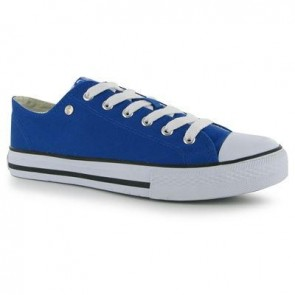 Dunlop Mens Canvas Low Top Trainers - Royal.