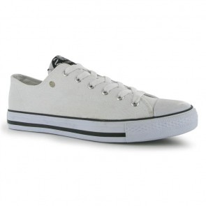 Dunlop Mens Canvas Low Top Trainers - White.