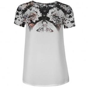 Firetrap Graphic T Shirt Ladies - White.
