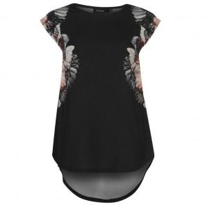 Firetrap Graphic TShirt Ladies - Black.