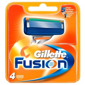 Gillette Fusion Razor Blades Refill 4 Pack.