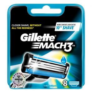 Gillette Mach 3 Razor Blades Refill 8 Pack.