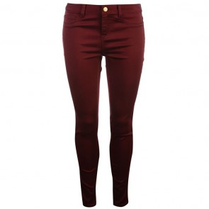 Golddigga Jean Jegging Ladies - Burgundy.