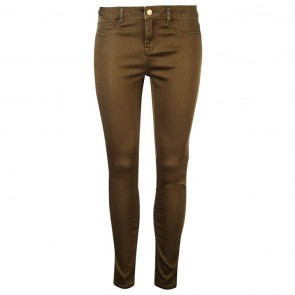 Golddigga Jean Jegging Ladies - Washed Khaki.