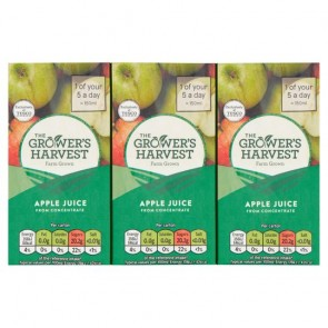 Growers Harvest Apple Juice 3X200ml