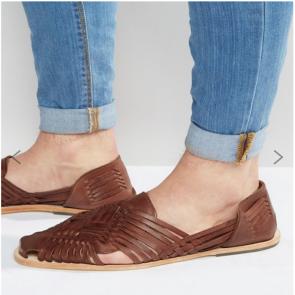 Hudson Matto woven Leather Sandal - Tan.