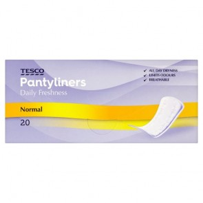 Tesco Normal Individually Wrapped And Folded Panty Liners 20 Pack