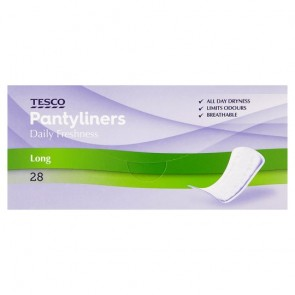 Tesco Large Panty Liners 28 Pack.