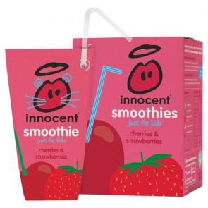 Innocent Kids Cherry & Strawberry Smoothie 4X180ml