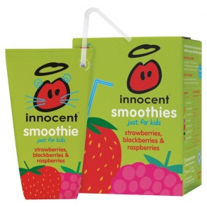 Innocent Kids Smoothie Strawberry & Raspberry 4X180ml