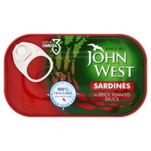 J. West Sardines Spicy Tomato Sauce 120G