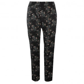 JDY Beat It Woven Trousers - Black Flower.