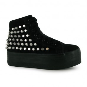 Jeffrey Campbell Homg Studded Shoes - Black/Silver S.