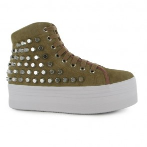 Jeffrey Campbell Homg Studded Shoes - Nude/Silver.