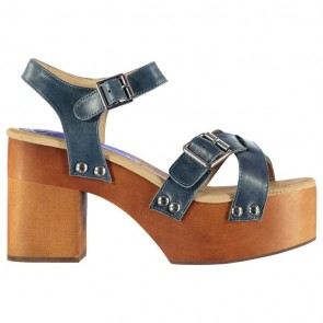 Jeffrey Campbell Peasy Platform Heel - Blue Leather.