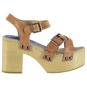 Jeffrey Campbell Peasy Platform Heel - Nude Leather.