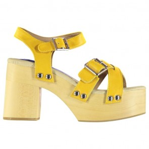 Jeffrey Campbell Peasy Platform Heel - Yellow Leather.