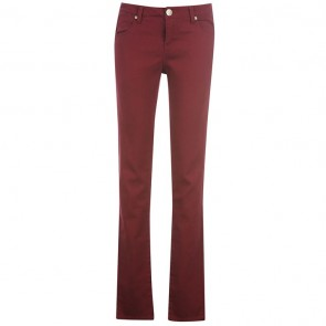 Jilted Generation Skinny Jeans Ladies - Burgundy.