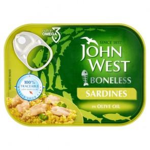 John West Foods Limited Boneless Sardines In Olive Oil 95G.