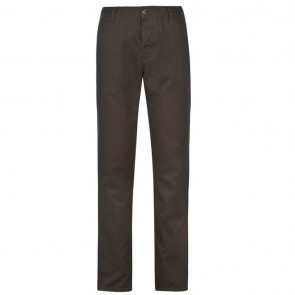 Kangol Chino Trousers - Dark Khaki.