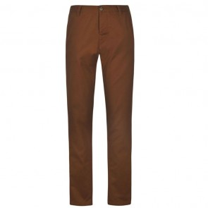 Kangol Chino Trousers - Dark Tobacco.