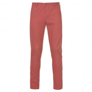 Kangol Chino Trousers - Washed Red.