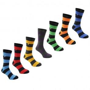 Kangol Formal 7 Pack Socks - Bold Stripe.