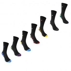 Kangol Formal 7 Pack Socks - Colour Stripe Sole.