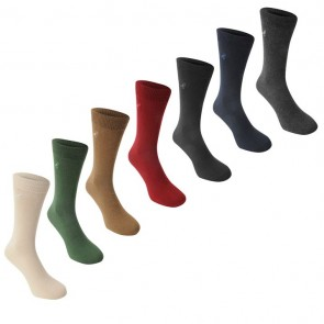 Kangol Formal 7 Pack Socks - Shades.