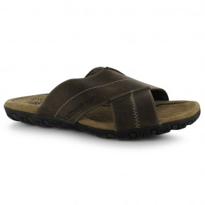 Karrimor Lounge Slide Leather Mens Sandals - Brown.