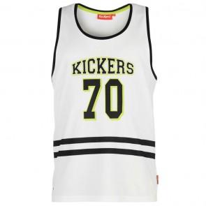 Kickers Mesh Vest Mens - White.