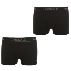 Lansdale 2 Pack Trunk Mens Boxers - Black.