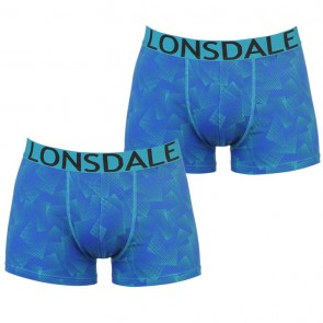 Lansdale 2 Pack Trunk Mens Boxers - Blue Triangle.