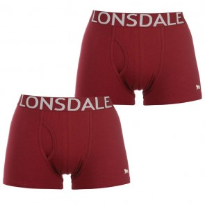 Lansdale 2 Pack Trunk Mens Boxers - Burgundy.