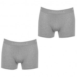 Lansdale 2 Pack Trunk Mens Boxers - Grey Marl.