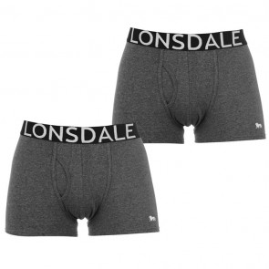 Lansdale 2 Pack Trunk Mens Boxers - Grey/White.