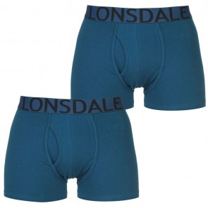 Lansdale 2 Pack Trunk Mens Boxers - Moroccan Blue.
