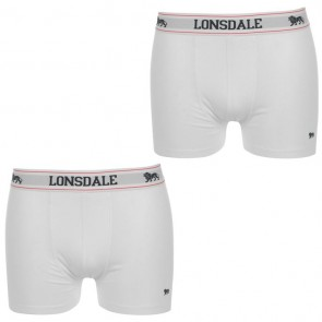 Lansdale 2 Pack Trunk Mens Boxers - White.