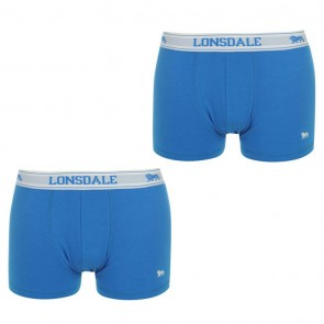 Lansdale 2 Pack Trunk Mens Boxers -Royal/White.