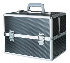 Large Black Aluminium Vanity Case.