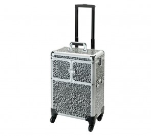 Large Leopard Print Trolley Case.