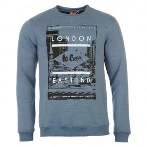 Lee Cooper East End Crew Sweater Mens - Denim Marl.