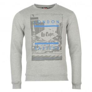 Lee Cooper East End Crew Sweater Mens - Grey Marl.