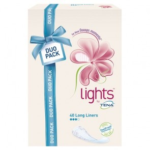 Lights By Tena Long Bladder Weakness Liners 40 Pack.